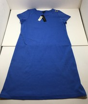 NEW Talbots Size S Women's Dress 100% Cotton Blue Short Sleeve Career NW... - $37.95