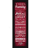 "Rider University ""Broncos"" 24 x 8 Family Cheer Framed Print - $39.95"