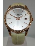 AKRIBOS XXIV AK883WTR ROSE GOLD  TONE/CRYSTAL ACCENTED WOMEN'S WATCH, NWOT  - $34.00
