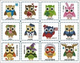 Hooties Year Round Mini Collection cross stitch chart Pinoy Stitch - $13.50