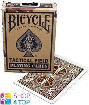 Bicycle Tactical Field Playing Cards Deck Poker Magic Desert Brown Uspcc New - $7.62