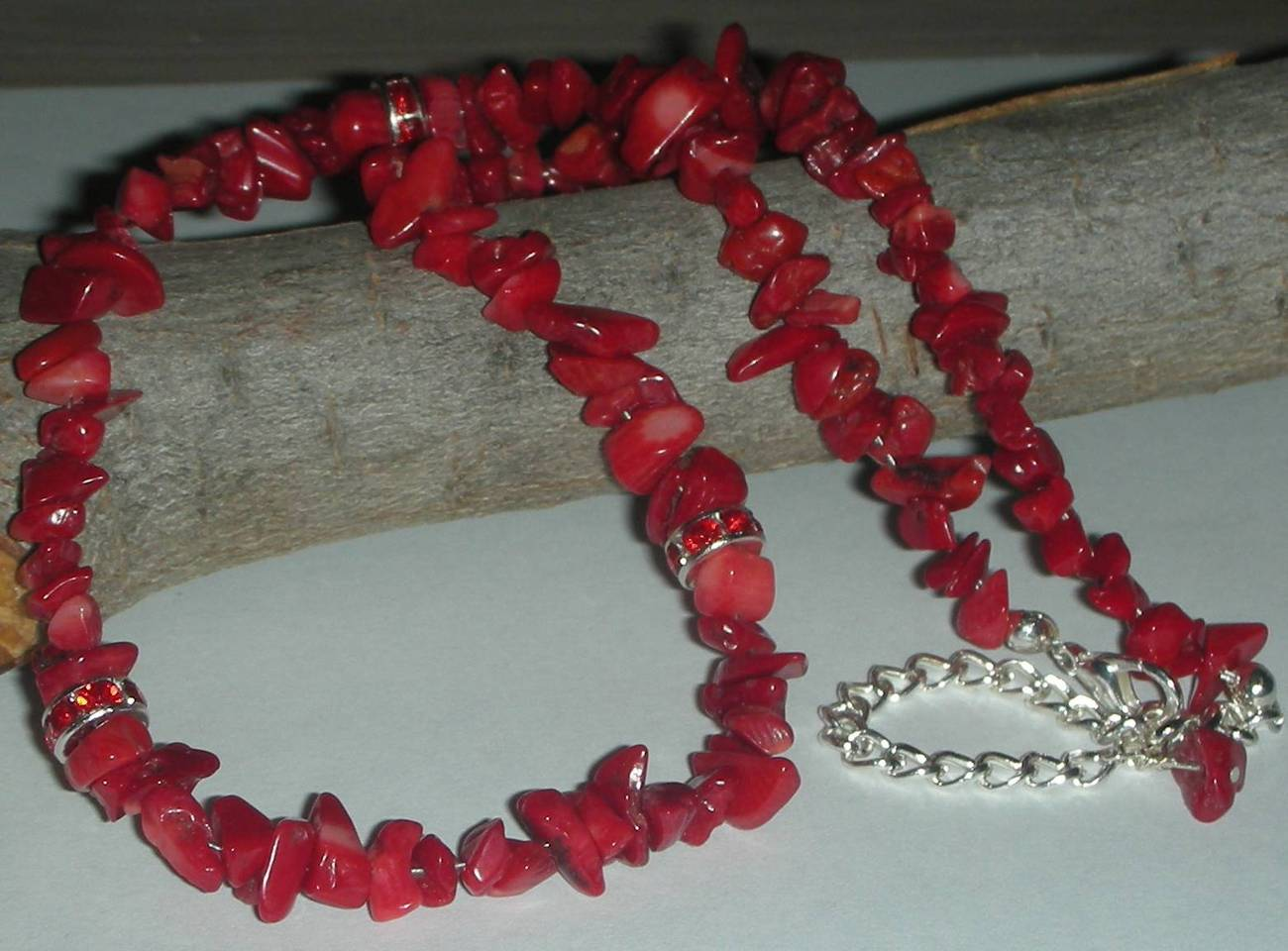 Gorgeous Red Coral  Stone beads Necklace SOLD