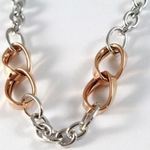 Bracelet White Gold Pink 18K 750, Circles, Ovals Wavy, Infinity, Italy Made image 2