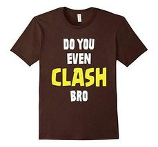 "NEW Mens Anvil Graphic Tee ""Do You Even Clash Bro"" Men's Size Medium Brown - $11.29"