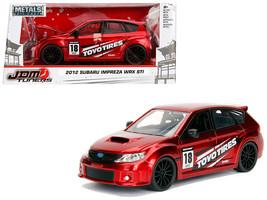 """2012 Subaru Impreza WRX STI Red \""""JDM Tuners\"""" 1/24 Diecast Model Car by Jada - $34.30"""