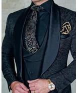 Mens Wedding Suits Italian Design Custom Made Black Smoking Tuxedo Jacket 3 Piec - $207.95