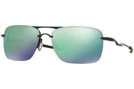 Oakley Tailback Rettangolare Uomo Occhiali da Sole OO4109-05 Nero Satinato/ - $175.48