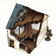 Detached-House - Type #1, Damaged (Pre-Painted)