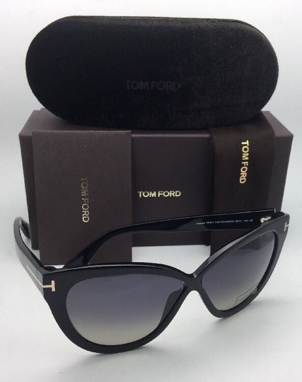d4dc076c289eb Polarized TOM FORD Sunglasses ARABELLA TF 511 01D 59-11 Black w  Grey  Gradient