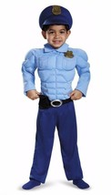 Police Officer Costume Toddler 2T Policeman Cop Muscle Outfit Dress Up Child New - £15.04 GBP