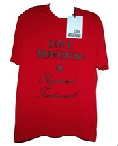 Love Moschino Red Black Logo Cotton Men's T-Shirt  Size 3XL NEW - $98.64