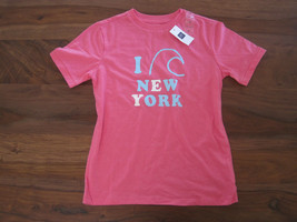 GAP Kids Girls T-shirt Top S 6 7 Short Sleeve Crew Neck Hot Pink Graphic... - $14.84