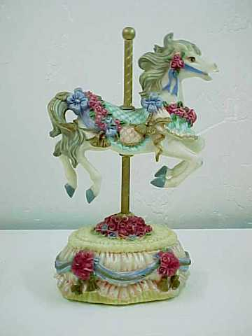 Heritage House Musical Carousel Horse-Melodies Country Fair Collection-Yesterday