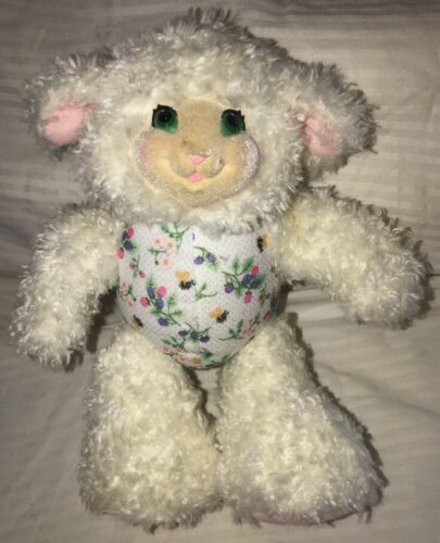 "Primary image for Lamb Sheep Fisher Price Berrysue White Pink Purple Berries Plush 9"" Toy 1998"