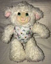 "Lamb Sheep Fisher Price Berrysue White Pink Purple Berries Plush 9"" Toy ... - $16.82"