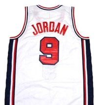 Michael Jordan #9 Team USA Basketball Jersey White Any Size image 5