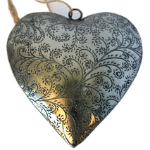 """Unique Handmade Etched Tin 5""""Heart -Valentine's Day - $12.34"""