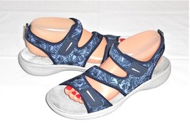 Easy Spirit Blue Fabric Adjustable Strap Sandal Women's Euro 40  US 9 M - $25.48