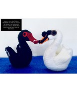 Handmade To Order - Swans in Love Shelf Sitters - $367.78