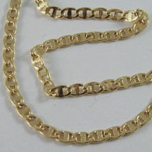 18K GOLD YELLOW CHAIN, SAILORS NAVY MARINER, FINELY WORKED, SHINY, MADE IN ITALY image 1