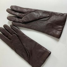 Fownes Womens Gloves Size 7 Brown Butter Soft Leather Cashmere Lined - $34.65