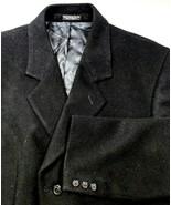 Silver Cloud Soft Wool & Cashmere Mens Vintage Overcoat Sz 44R Black Dre... - $72.37
