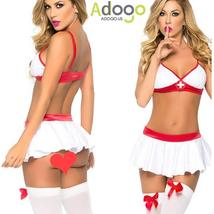 Sexy Lingerie Nurse Costume Outfit Set Nurse Cosplay Free Size image 2