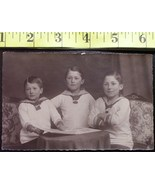 Three Sailor Boys Photo Post Card Early 1900`S Wow! - $4.00