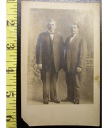 Photo Post Card Two Men Gay Interest Early 1900`S Wow! - $3.20