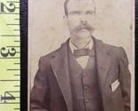 Cdv bushy moustached man  1 thumb155 crop