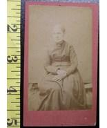 CDV Carte De Viste Photo School Teacher Type Lady ! c.1859-8 - $3.20