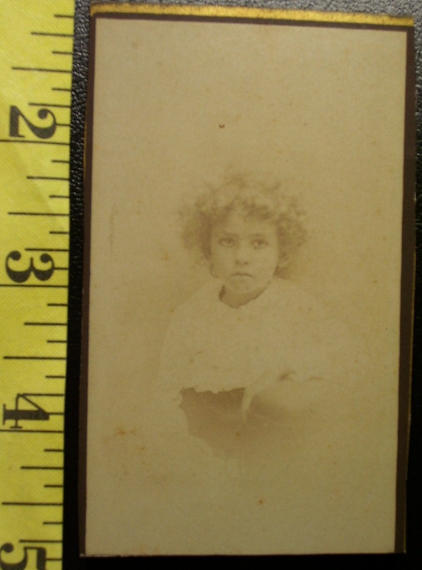 Cdv curly haired cute girl  1