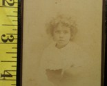 Cdv curly haired cute girl  1 thumb155 crop