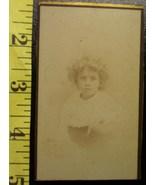 CDV Carte De Viste Photo Cute Young Girl Graphics! c.1859-80 - $3.20
