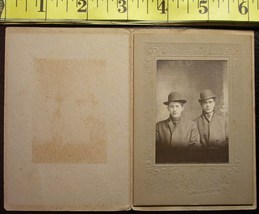 Cabinet Card Handsome Men Hats & Ghost Image! c.1880`s - $4.80