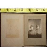 Cabinet Card Handsome Men Hats & Ghost Image! c.1880`s - $5.00