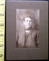 Cabinet Card Handsome College Age Man Sweater! 1900-20 - $3.00
