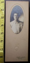 Cabinet Card Portly Lady Oval Style Studio Info! c.1890-1910 - $4.00
