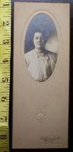 Cabinet Card Portly Lady Oval Style Studio Info! c.1890-1910 - $3.00