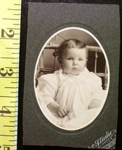 Cabinet Card Oval Style Cute Baby Wow! c.1890-1910 - $3.00