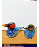 murano style glass sand pipers - $33.41