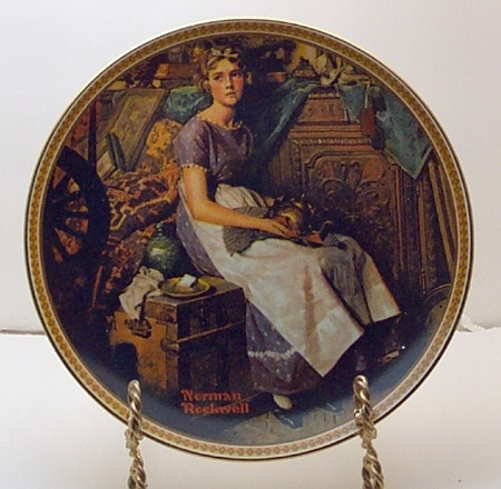 Dreaming in the Attic- Norman Rockwell Plate