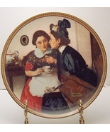 Gossiping in the Alcove-Norman Rockwell Plate - $29.99
