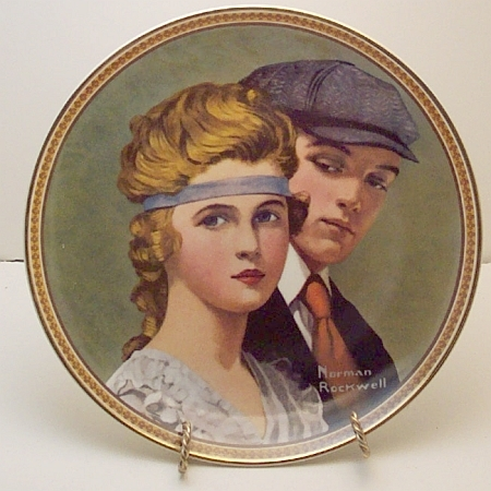 Meeting on the Path- Norman Rockwell Plate