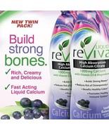 LIQUID reViva Calcium Magnesium plus 1000 IU of Vitamin D3 Twin Pack 32o... - $35.99