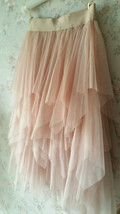 Layered Midi Tulle Skirt Blush Pink Ballerina Tulle Skirt Blush Party Midi Skirt image 6