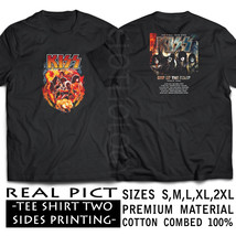 SHIRT TSHIRT KISS END OF THE ROAD TOUR 2019 BLACK PREMIUM  S-2XL SIZES R... - $26.50+