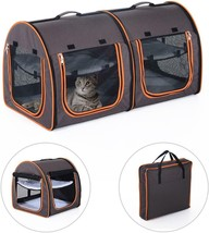 """39"""" Soft-Sided Portable Dual Compartment Pet Carrier - Gray NEW - $140.84"""