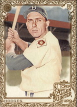 2019 Topps Allen and Ginter Gold Hot Box #385 Gil Hodges SP Short Print Dodgers - $4.95