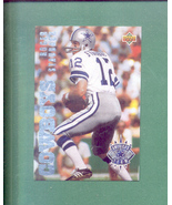 1993 Upper Deck Dallas Cowboys Americas Team Staubach - $7.00